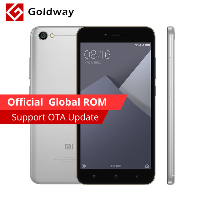 "Original Xiaomi Redmi Note 5A Mobile Phone 2GB RAM 16GB ROM Snapdragon 425 Quad Core 5.5"" 13.0MP Camera 3080mAh Battery"
