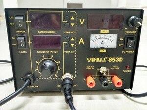 Image 2 - 110 V/220 V 3 In 1 Yihua 853D (1A) smd Rework Station Soldeerbouten Met Voeding