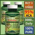 4 x BOTTLES 3000mg Daily ~ HCA 95% GARCINIA CAMBOGIA Capsules Weight Loss
