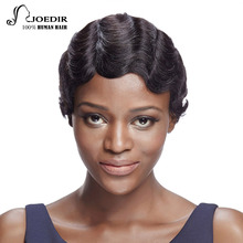Joedir Hair Brazilian Virgin Hair Wavy Short Human Hair Bob Wigs For Black Women Color 1B T1B27 TT99J350 8.5inch Free Shipping