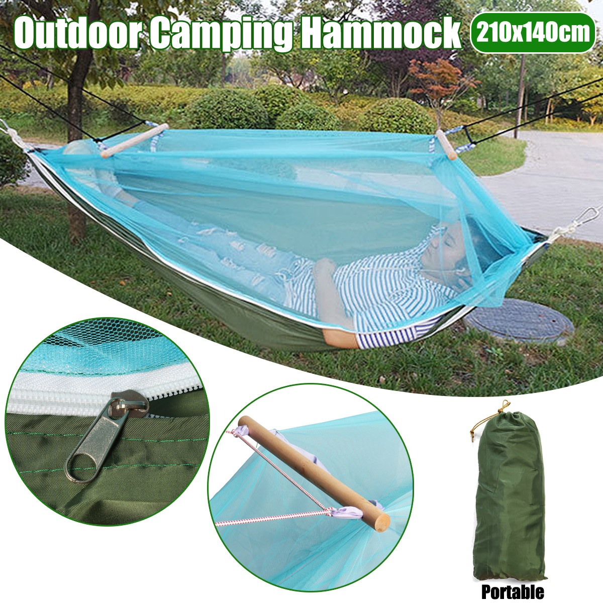 Portable 1-2 Person Outdoor Mosquito Net Parachute Hammock Camping Hanging Sleeping Bed Swing Portable Double Chair for Garden outdoor net parachute hammock camping hanging sleeping bed swing portable