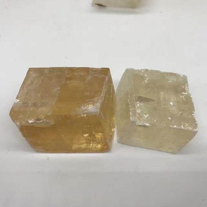 1000g Natural Square Calcite Stones Iceland Spar Quartz Crystal Rock