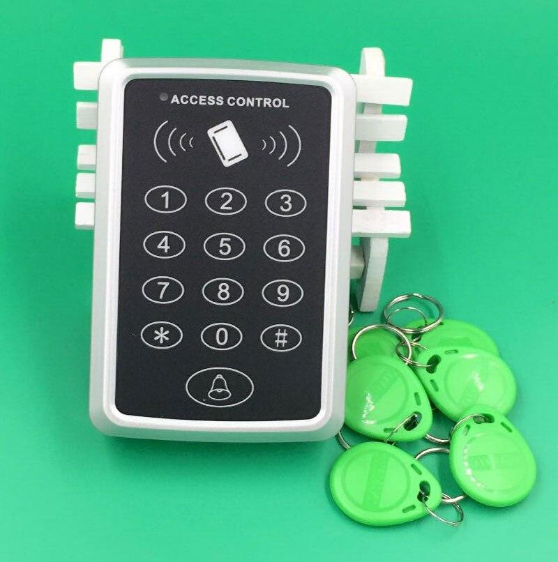 все цены на  Free shipping RFID Reader Door Access Control Entry Kit Password Keypad Card +10 pcs 125kHz RFID Proximity ID Card  онлайн
