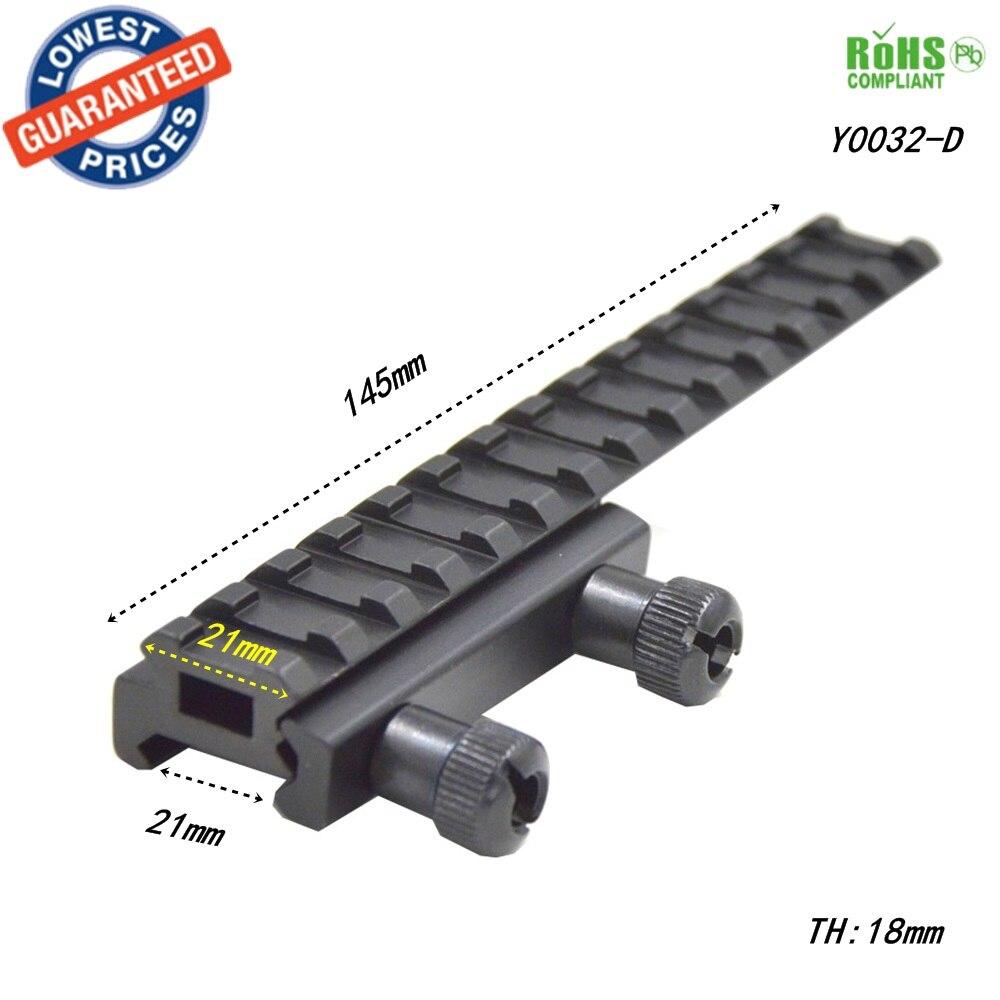 Alonefire Zielfernrohrmontage Basis Flattop Riser Erweiterte langes Gießen 20mm/21mm picatinny Weaver Schiene-1 STÜCK Y0032-D