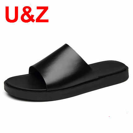 Summer slippers men superior calf Leather,Cool yet Functional classic sports slippers men beach shoes male casual shoes Sandals