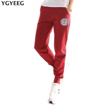 YGYEEG Women New 100% Cotton Pants High Waist Pants Bow Tie Drawstring Sweet Elastic Waist Pockets Casual Trousers Pantalones grey casual drawstring waist zipper design pants with four pockets