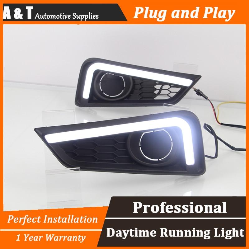 car styling For Honda City LED DRL For City led fog lamps daytime running light High brightness guide LED DRL