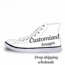 THIKIN Custom Images or Logo Women High Top Canvas Shoes Cla