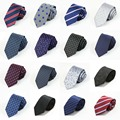 Men 7cm Jacquard Neckties Paisley Striped Floral Grids Polka Dots Ties TSBWT0066