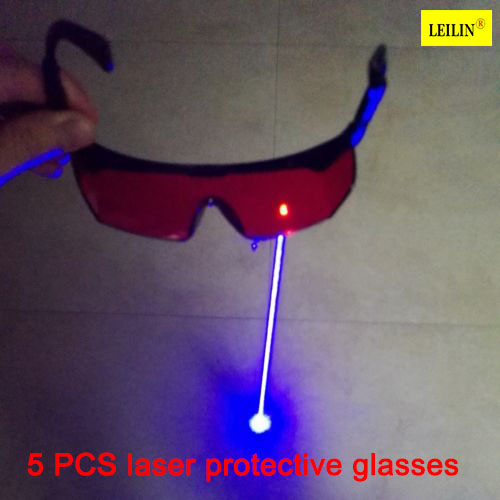 Protective Goggles High Quality PC  lens  200-560 Laser Safety Glasses 5piece / package  Radiation Ultraviolet welding glasses 800nm 1700nm od4 900nm1100nm od5 laser protective goggles safety glasses 52