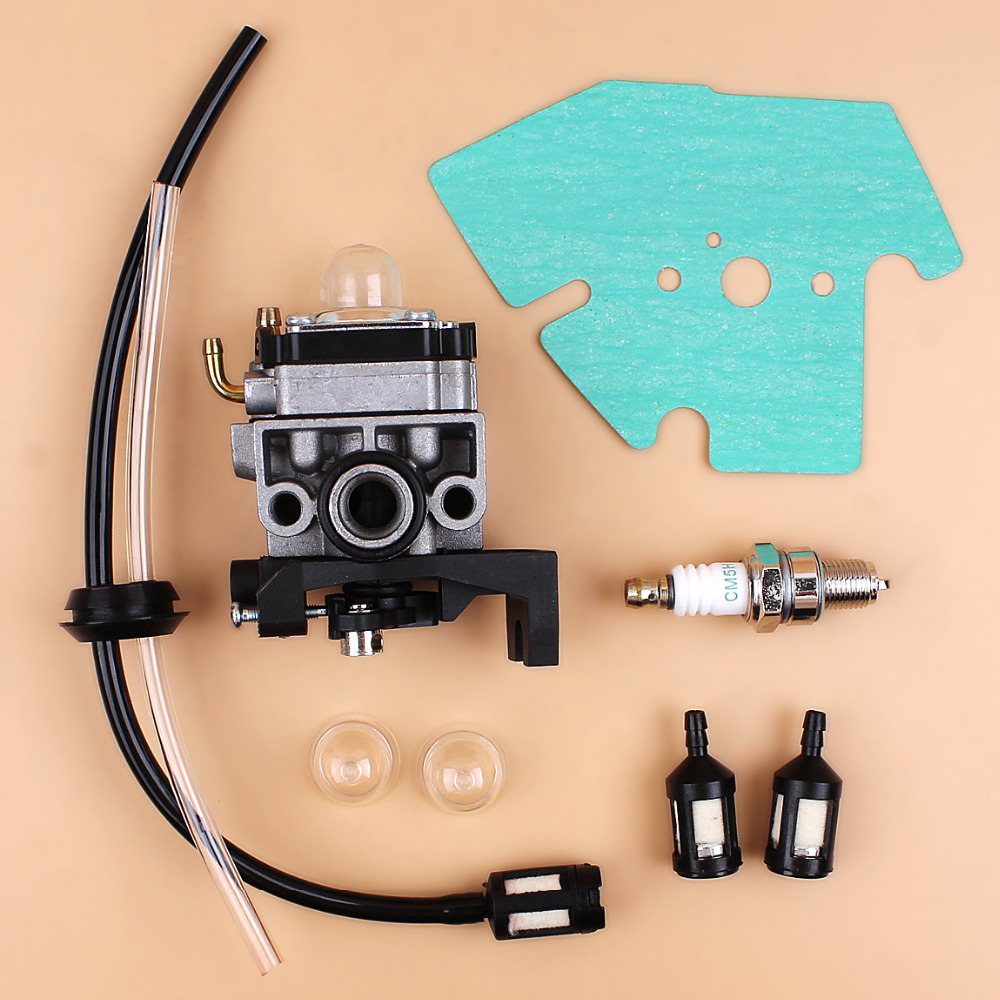 Carburetor Carb Gasket Spark Plug Fuel Line Hose Kit For Honda GX25 GX35 GX 25 35 HHT35 HHT35S FG110 Trimmer Mowers Engine 3set brush cutter carburetor gasket kit and primer bulb needle 40 5 44f 5 34f 36f 139f gx35 grass trimmer carburetor repair kit
