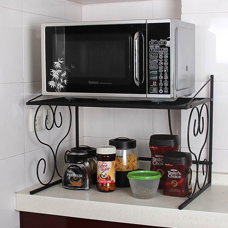 Double Layer Microwave Oven Rack Locker Multi Layer Rice