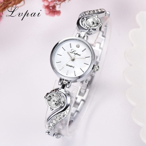Lvpai Brand Luxury Rhinestone Watches Women Quartz Bracelet Watches Ladies Dress New Fashion Rose Gold Clock relogios kol saati Islamabad