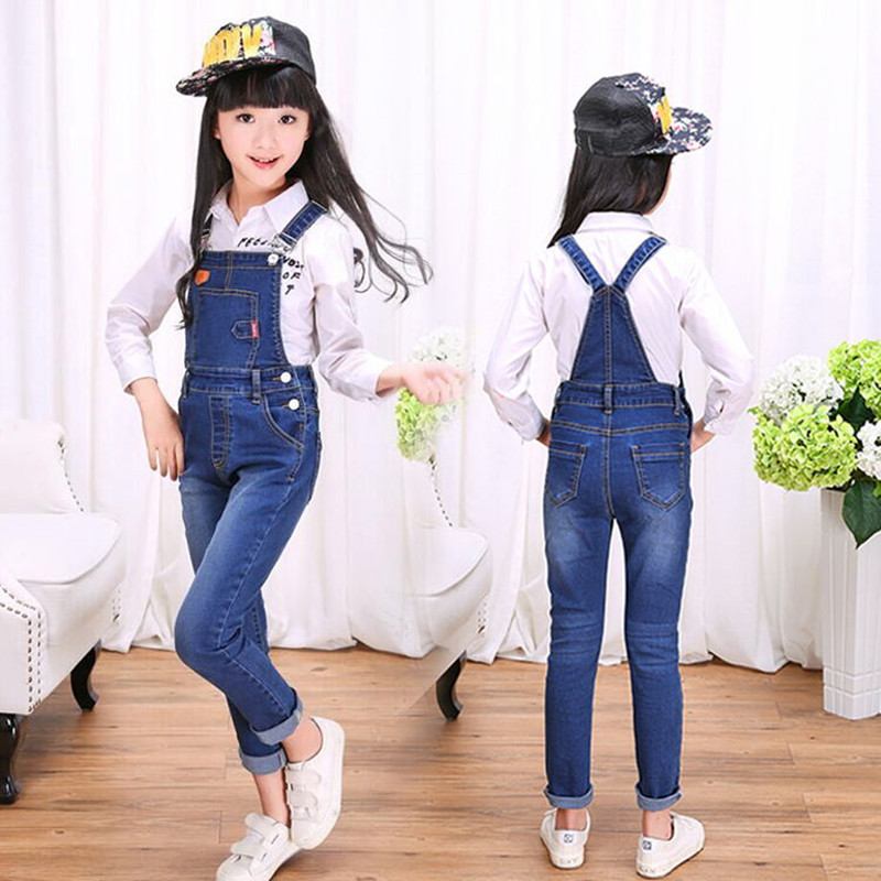 Children s cowboy clothing girl children bib elastic jeans children Siam straps