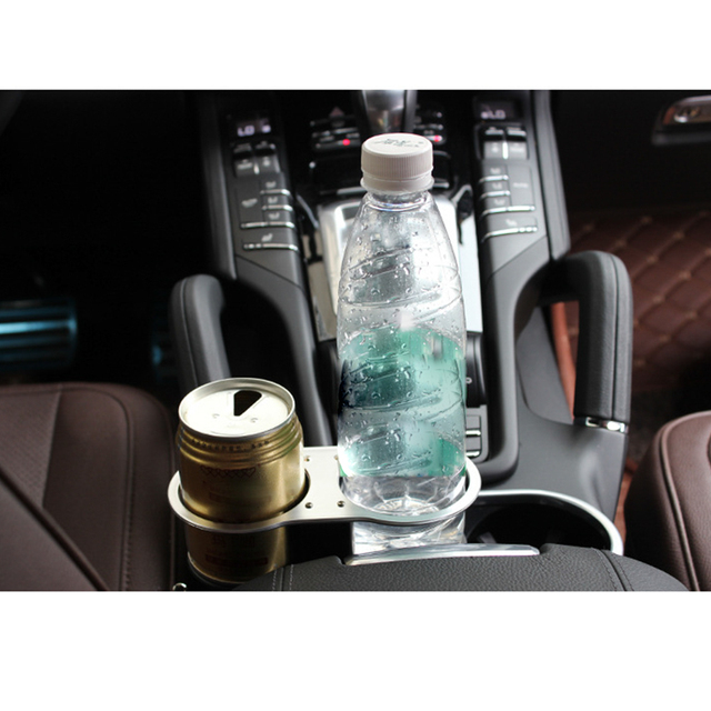 Universal Double Cup Bottle Base Holder Auto Car Seat Dual Wedge Beverage Stand Truck Drink