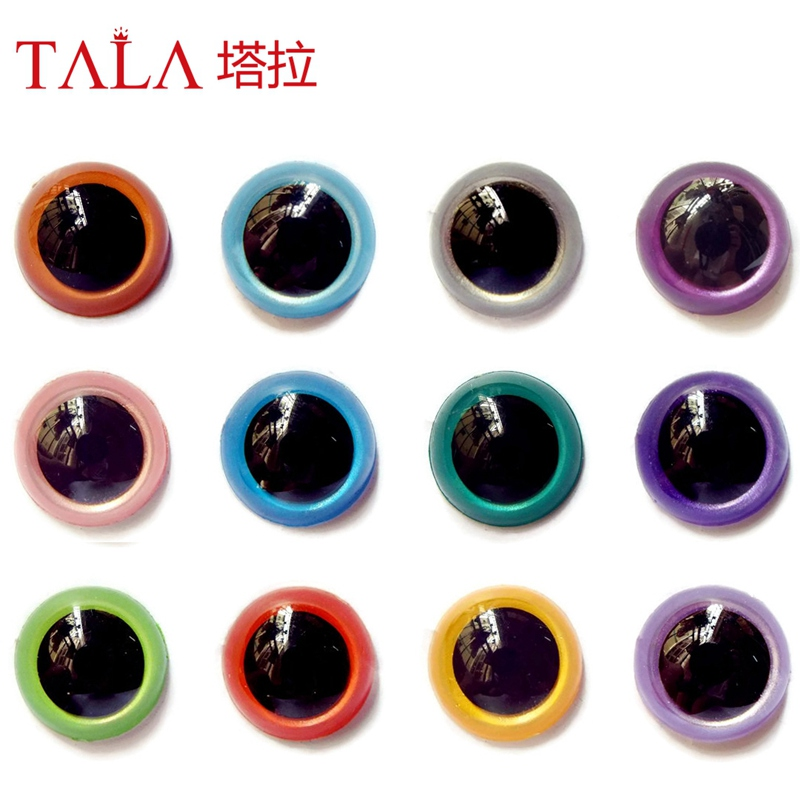 100Pairs 10mm Mixcolor Handmade Safety Animal Doll Eyes Plastic Colored Eyes Free Shipping