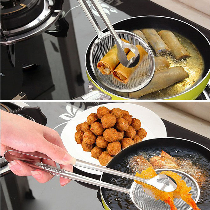 2018 New Kitchen Cooking Tools Mini Stainless Steel French Fries Net Fry Fryer Basket Small Square Shape Kitchen Tools