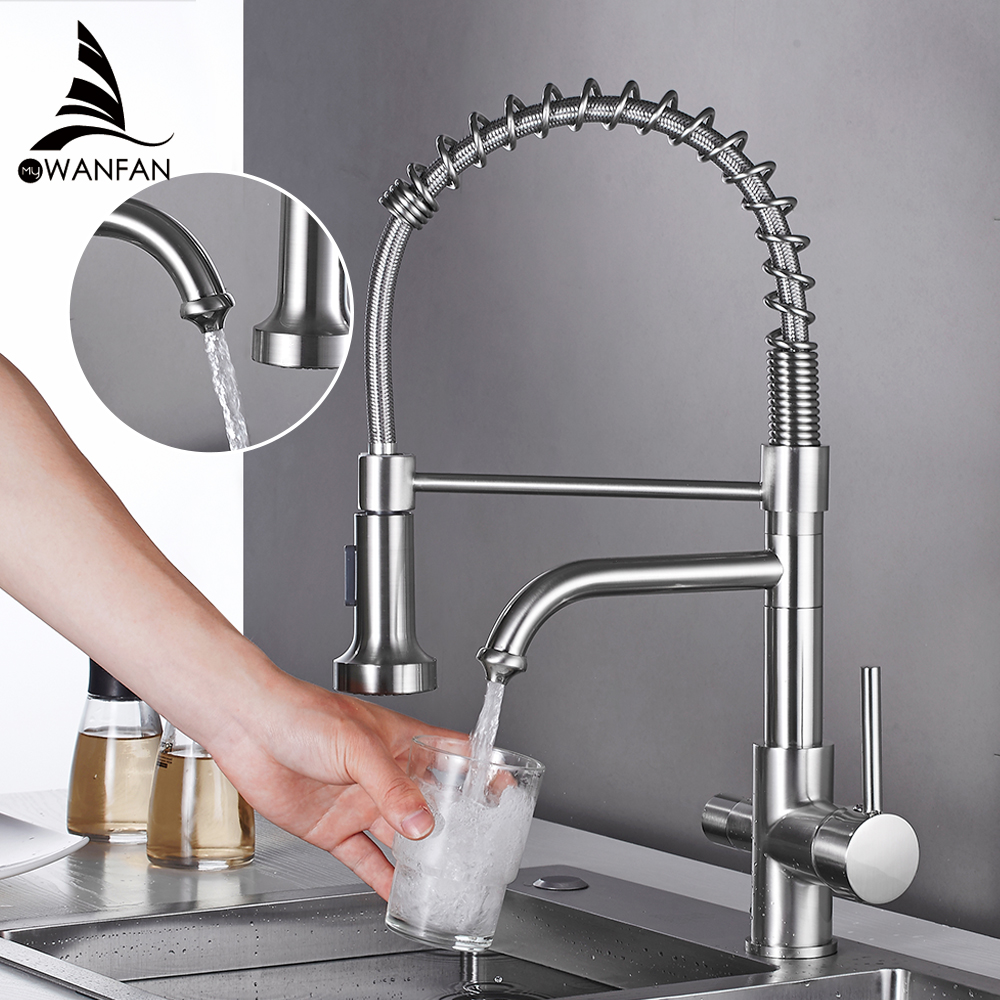 Kitchen Faucets torneira para cozinha de parede Crane For Kitchen Water Filter Tap Three Ways Sink Mixer Kitchen Faucet WF-0199