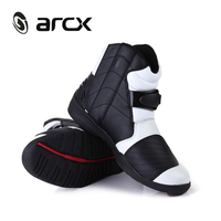 ARCX Genuine Cow Leather Motorcycle Road Racing Shoes Street Moto Chopper Cruiser Touring Biker Motorbike Riding Ankle Boots
