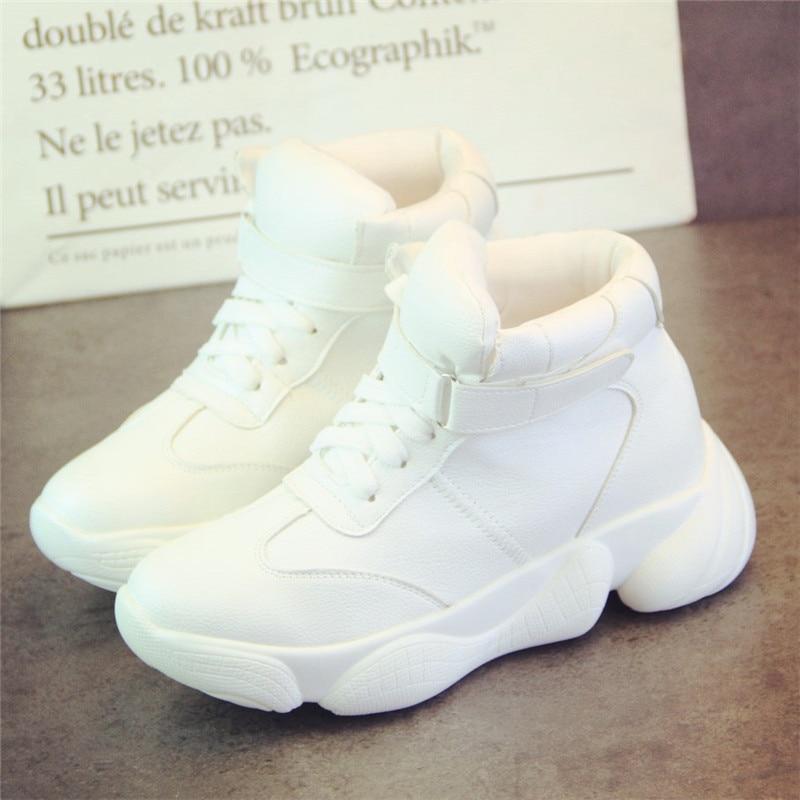 SWYIVY Plain White Shoes Sneakers