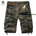 2016 Men Outwear Plaid Shorts Men's Casual Fashion Slim Fit Large Size Knee Length Beach Men Plaid Shorts Trouser Outwear Hombre
