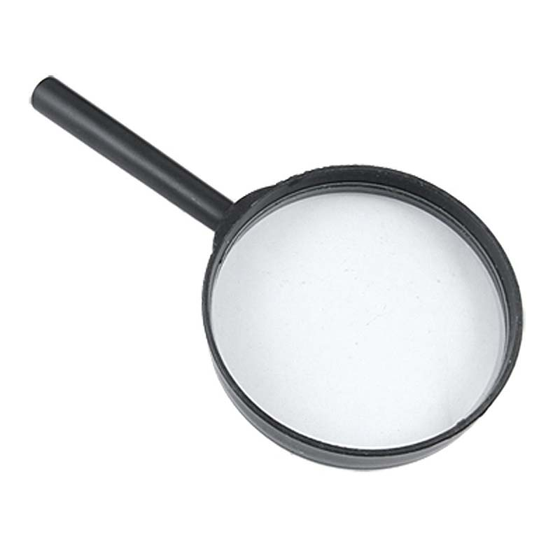 75mm Black Portable Magnifying Glass Magnifier For Reading