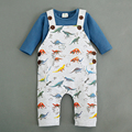 Baby clothes spring and autumn baby romper strap dinosaur cartoon car infant jumpsuits