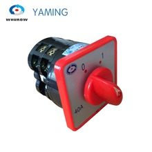 40A 7.5kw 380V 2 pole 3 position universal rotary cam changeover switch silver contact red HZ5-40/7.5 L02