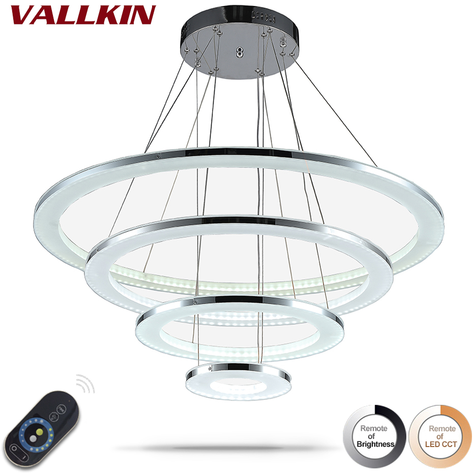 Dimmable Modern LED Acylic Chandelier Lights Indoor Acrylic Pendant Lamp Ceiling Chandeliers Lamps Fixtures with Remote Control