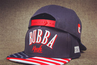 2017 New Hot American USA Flag 3D BUBBA Hiphop Navy Snapback Caps Adjustable Cotton Hiphop Youth