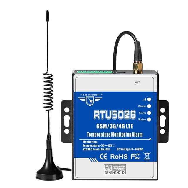 GSM 3G 4G LTE telemetría monitoreo de temperatura Medición de alarma 55 a 125 grados Celsius soporte reinicio remoto RTU5026