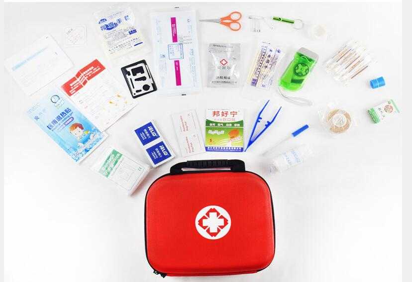Купить с кэшбэком Double portable first aid kit EVA medical kit family outdoor car Emergency bags medicine kit first aid kit 20/26 items tracdical