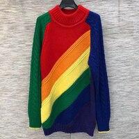 Зима осень свитер Для женщин О образным вырезом леди Свитер с длинными рукавами пуловеры 2018 Повседневное Для женщин толстый свитер