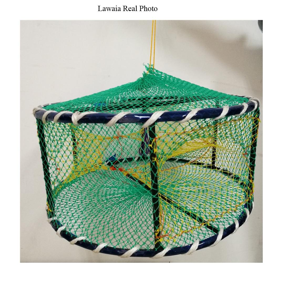 Lawaia piège pêche en fonte réseau de pêche flotte pour la pêche au filet pliant Pesca Acesorios filet de poisson chine piège à crabe piège à crevettes