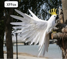 new real life white wings parrot model foam&feather simulation cockatoo bird gift about 35x50cm xf0270 стоимость