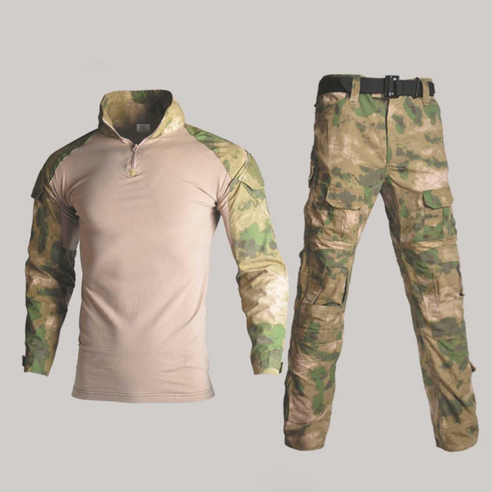 Tentara Seragam Militer Taktis G3 Bdu Kamuflase Tempur Set Airsoft Permainan Perang Kemeja Celana Militer MultiCam Berburu Kamuflase Pakaian