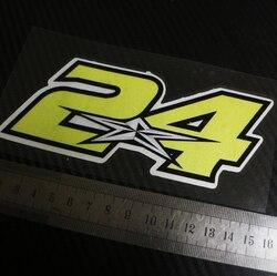 1 sztuk MOTO stylizacja naklejki na naklejki dla 24 Toni elias naklejki odblaskowe w Naklejki samochodowe od Samochody i motocykle na