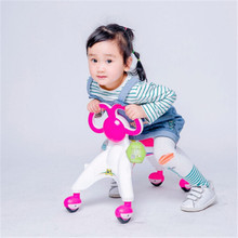 Children Four wheel Balance Bike kids Scooter Baby Walker Tricycle Bike Ride On Toys Gift for Baby 4 Color
