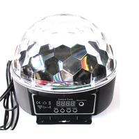 Portable Voice Activated Mini RGB LED Crystal Magic Ball Stage Lighting Effect Lamp Bulb Party Disco