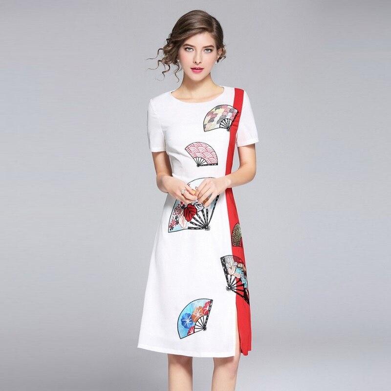 Calidad estupenda moda nuevo vestido 2018 Primavera Verano mujeres ...