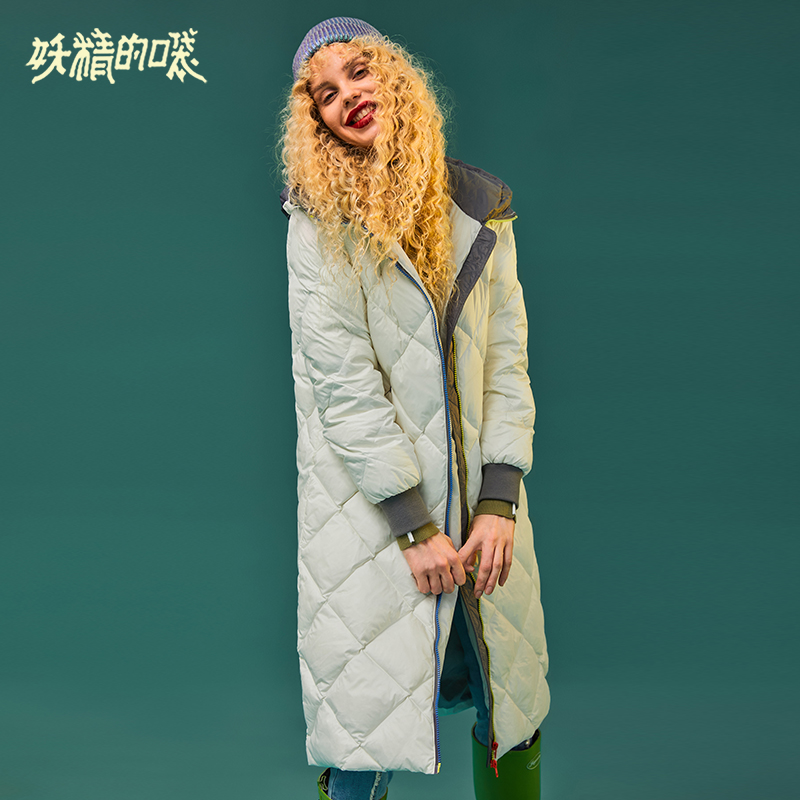 ELF SACK New Fashion Women Down Coat 90% White Duck Down Casual Women Thick Jackets Wide-waisted Solid Winter Wearing Jackets