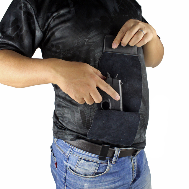Full Concealed Carry Holster Rapid Draw Leather Inside The Waistband Holster for Compact to Medium Handguns 1