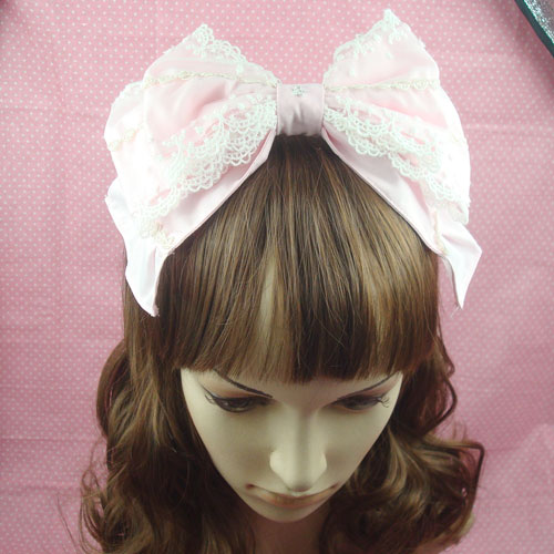 Sweet lolita princess headband young girl hair accessory double layer bow headband princess headband  cos hair band bow