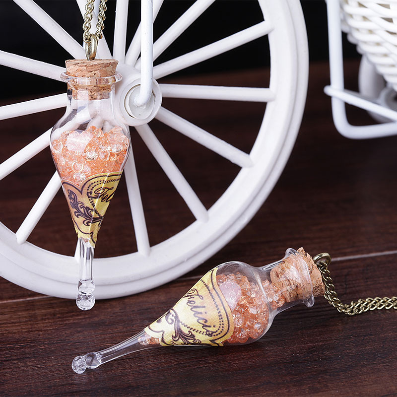 Action HP Newest Felix Felicis Potion Bottle Pendants Necklace Glass Sweater Chains HP Harri Movie Collectible Toys For Children