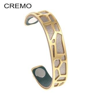 b79ed3763aaa Brazaletes de oro Cremo para mujer jirafa pulsera de acero inoxidable  pulseras y brazaletes de animales Bijoux Manchette mujer Pulseiras