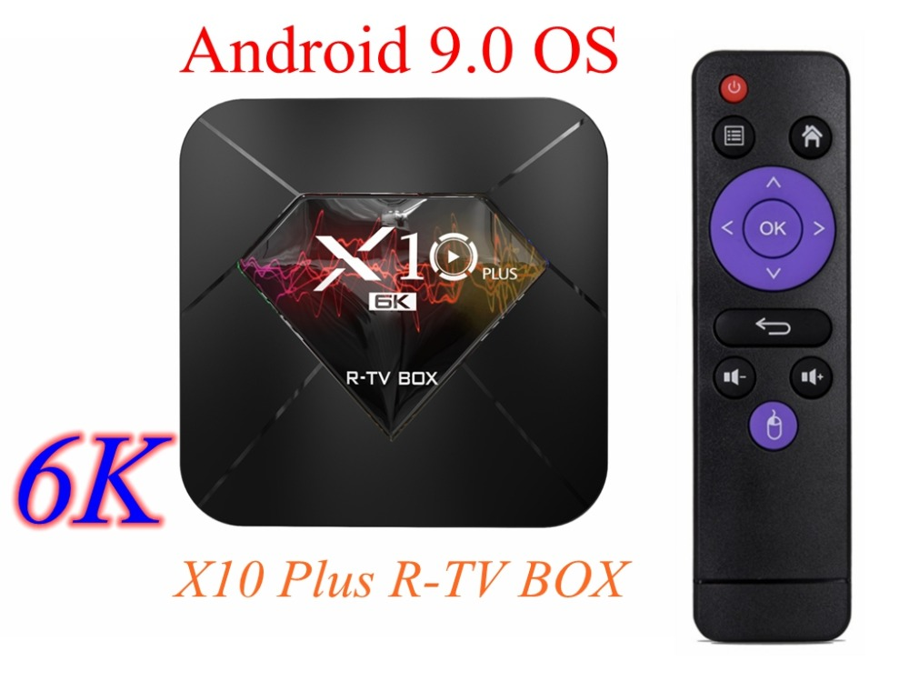 6K TV Box X10 Plus Android 9 0 Allwinner H6 Quad Core 4GB 32GB 64GB 2
