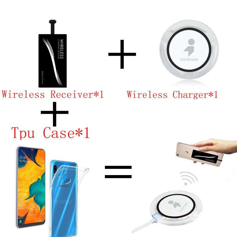 Qi Wireless Charger Power Bank For Samsung Galaxy A60 A 60 Case Cover Mobile Accessories Pad Charge Wireless Charging Receiver