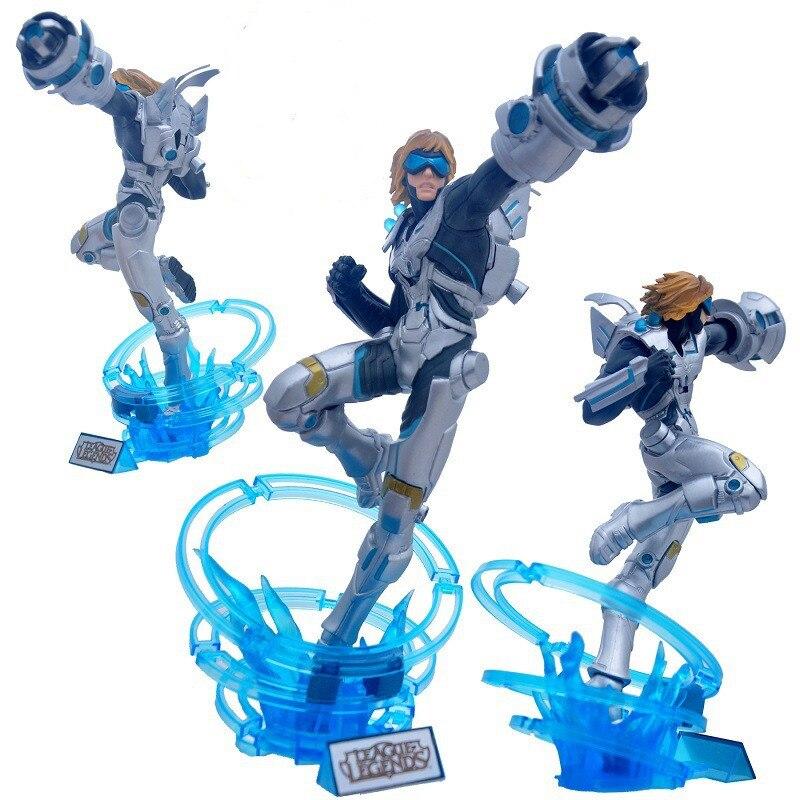 Figurine LOL jeu Ezreal EZ 30 cm PVC le purificateur ACGN Brinquedos jouets dessin animé poupées à collectionner modèle Anime