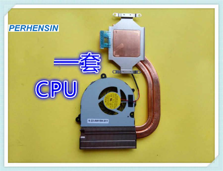 GPU CPU Cooler untuk CLEVO W650KK W650DC W650DD W650KK K660D-G5D1 CW65S07 Heatsink Kerening Fan 6-31-W65D3-101 6-31-W65D3-201