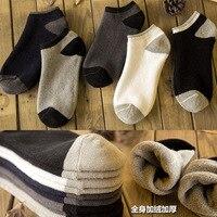 5 أزواج الجوارب الرجالية ماركة جديدة رجل الجوارب القطنية الأعمال اللباس الصيف الصلبة اللون أسود أبيض قصير sokken الشتاء الجوارب
